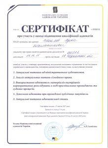 Підвищення кваліфікації адвоката Чакалова Р.К.